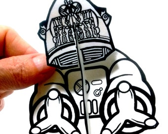 Robert Robot to Color Paper Doll - Printable Toy