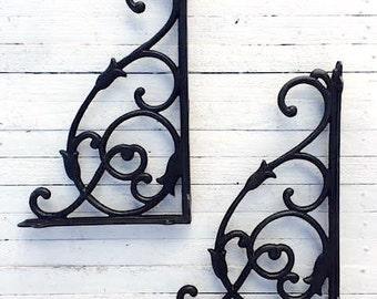 grauguss metall wandausleger pflanze kleiderb gel regal. Black Bedroom Furniture Sets. Home Design Ideas