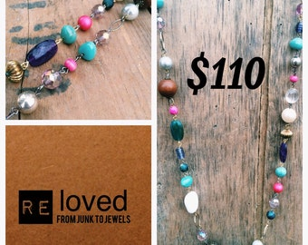 Re-Loved Long Beaded Necklace 037