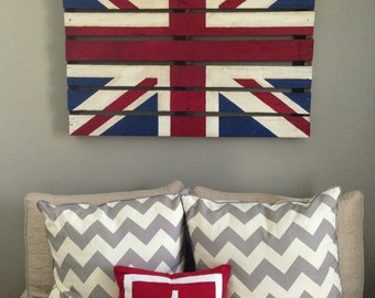 Pallet Flag Reclaimed Wood Distressed