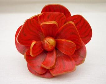 Flower ring polymer clay