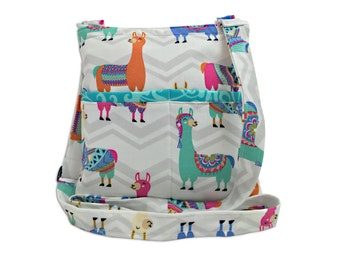 Llama Crossbody Bag // Sling Bag // Crossbody Purse // Shoulder Bag // Hipster
