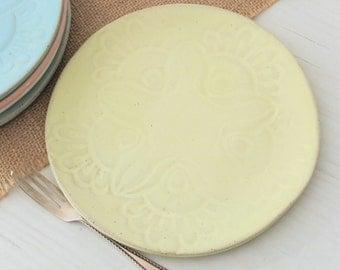Ceramic plate, serving plate, side plate, handmade plate, cake plate, pottery plate, decorative plate, handmade plate, dinnerware