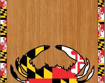 Maryland Flag Crab LAMINATED Cornhole Wrap Bag Toss Decal Baggo Skin Sticker Wraps