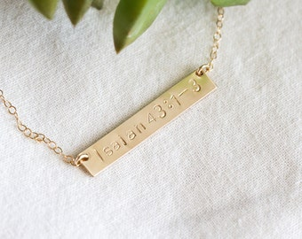 Bible Verse Necklace - Scripture Necklace - Scripture Reference Necklace - Pastors Wife Gift - Womens Ministry Gift - Gift for Wife