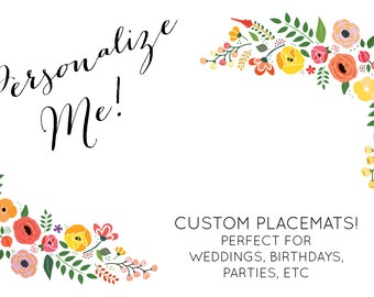 custom printed paper placemats 1-16 of 1,749 results for personalized paper placemats 100 personalized printed 24# paper placemats wedding 10 x 14 custom 70th milestone.