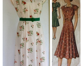 1940's, WWII Vintage Reproduction Dress