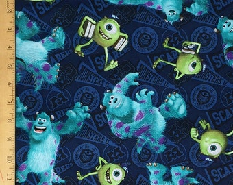 Disney Monsters Inc. Mike and Sully Toss Fabric, Disney Mike and Sully Toss Fabric From Springs Creative
