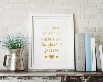 Gold foil print, Mother's Day Gift, Print art for mom, Gift for mom, Gold print for mom, Mom gift, Gold print art, Mom quote print, Mom art
