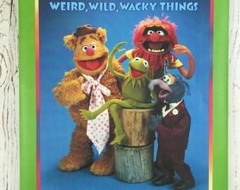 Vintage 1981 Muppets Scrapbook, Hallmark Muppets Photo Album, Weird Wild Wacky Things Scrapbook, Photo Album by Jim Henson, Muppets Album