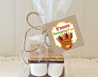 THANKSGIVING S'MORES KIT, Holiday S'mores Favors, Fall Favors, S'mores Favors, Thanksgiving Favors, Teachers Gift, Holiday Party Favors