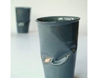 Minimalist Glazed Cup, Art Tumbler, Home Design, Coffee Tumbler, Water Glass, Men Tumbler, Design Cup, Art Drinkware, Black Cup