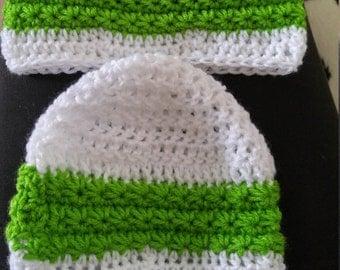 Star Stitched Striped Beanie
