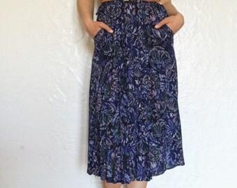 Super Soft Vintage Floral Pocket Dress