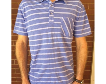 Short Sleeved Striped Polo