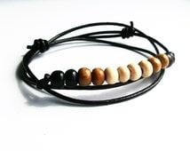 50% OFF! Wooden Bead Bracelet, Bead Wrap Bracelet, Mens Bracelet, Mens Bead Bracelet, Womens Bead, Wooden Beaded Bracelet,