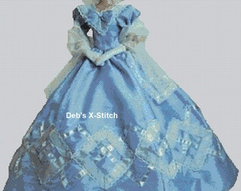 Elegant Lady #126 Cross Stitch Chart