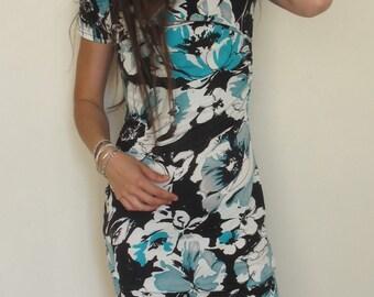 Women 90's Flower Dress