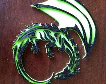 3D Printed Dragon - 2 Color