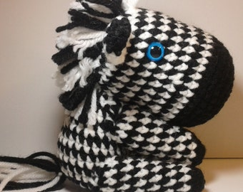 Crochet zebra, Amigurumi zebra