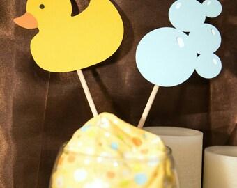 Baby Shower Centerpiece, Rubber Duck Centerpiece, Shower Centerpiece, Diaper Cake Topper, Shower Cake Topper, Party Centerpiece