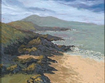 Northton, Isle of Lewis, Scottish Highlands, Outer Hebrides, Scotland, Allt a' Mhaoil, Scottish, Artist, Abhainn Leinish Sea, Rocks,