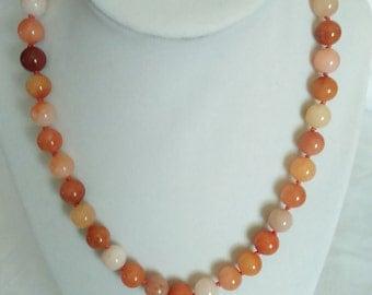 Carnelian Bead Necklace