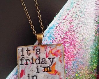 The Cure Friday I'm in Love Pendant Necklace
