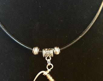 Yoga downward dog, pose pendant, on adjustable Shambala, style leather cord necklace