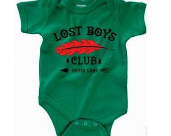 Disney Baby Shirt Lost Boys Club  Shirt Disneyland Shirt Disney World Shirt Peter pan shirt Magic Kingdom Shirt