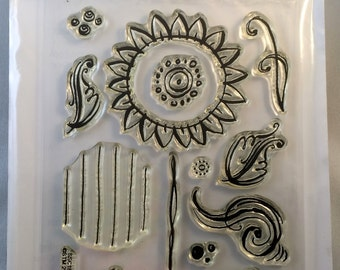 Sunflowers stamp set by Stampendous