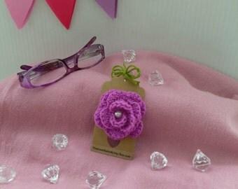 Rose crochet brooch corsage