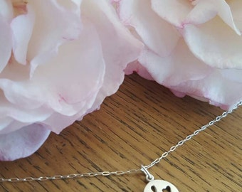 MUMS 3 hearts charm necklace | Sterling Silver Necklace | Birthday, mother's day, baby shower