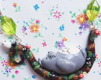 Sleepy Totoro Necklace