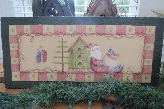 Christmas Sign Wooden Christmas Sign Hand Painted Christmas Sign Holiday Decor Christmas Decor Rustic Christmas Sign
