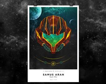 "Prisma No. 4: Samus Aran. Metroid 12x18"" Print"