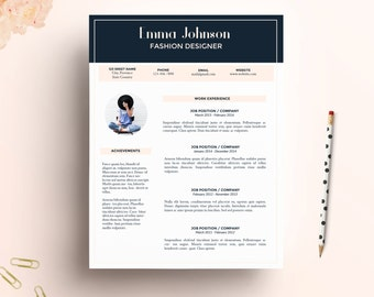 resume template cv template cover letter for word us letter a4 - Digital Resume