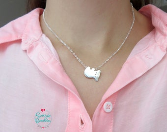 Clover Necklace | Lucky Clover r Silver necklace | Trébol suerte | Clover silver spring necklace | Trébol Plata