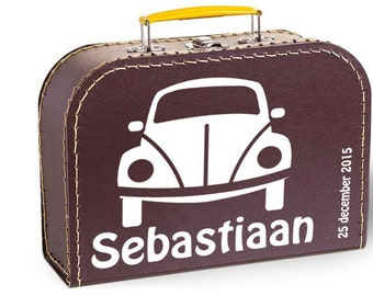 Suitcases with name and birth date - Beetle car