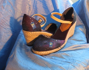 Doctor Who Tardis Galaxy Shoes 39