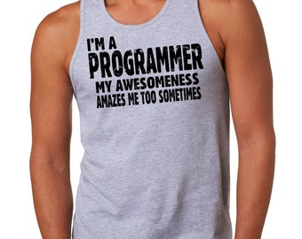 Programmer Tank Top Gift For Programmer Funny Profession Tank Top