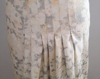 pin tuck detail skirt, metallic floral skirt, a-line skirt, reclaimed fabric skirt, metallic fabric skirt, summer skirt, handmade skirt