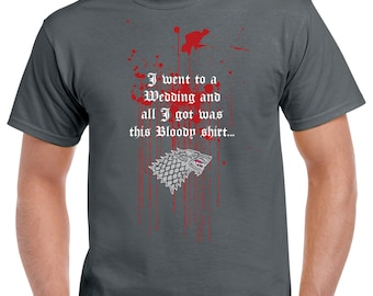 "Game of Thrones Red Wedding ""Bloody Shirt"" Tshirt"