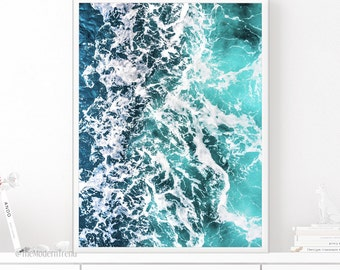 Ocean Print, Ocean Wall Art, Ocean Printable, Ocean Printable Art, Ocean Wave Print, Wave Wall Art, Wave Printable, Sea Print, Sea Water