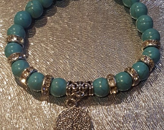 Women Teal and Silver Bracelet