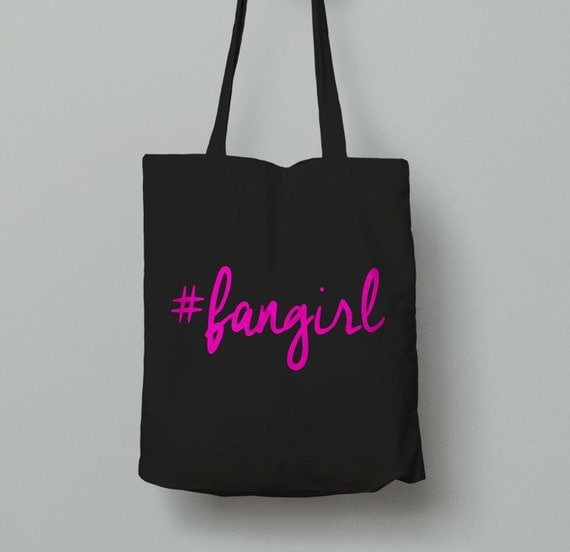 Fangirl Tote Bag  - Pink #fangirl Tote Bag - Bookish Tote - Book Lovers Bag