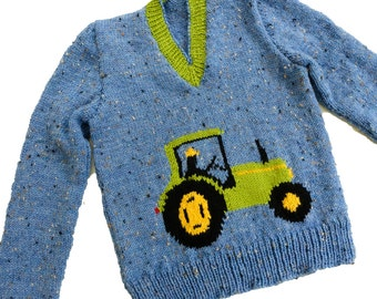 Knitting Pattern With Tractor Motif : PATTERN 211 Knit O Graf Poodle Sweater Knitting Teen size 12 14 16 18 of the ...