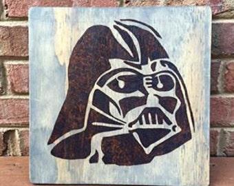 Darth Vader Star Wars Wood Burn