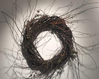 Wispy Primitive Birch and Huck Wreath