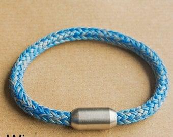 Men Bracelet from sailing Rope | Blue and Grey Rope Bracelet